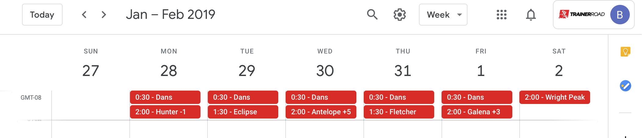 Calendar Export – TrainerRoad